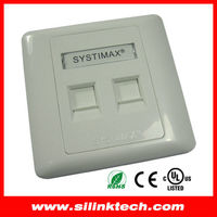 Systimax 2 port rj45 network cable face plate