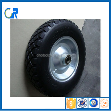 Most popular 16 x4.00-8 pu wheel for wheel barrow with many colorful