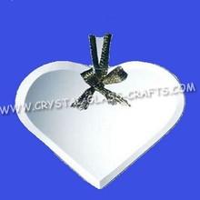 Biselado Jade cristal del corazón ornamento / en blanco del corazón adornos cristal de Jade