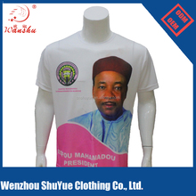 100% polyester sublimation wholesale political election t-shirt for Niger