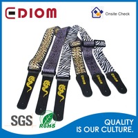 Wholesale guitar strap, Custom heat transfer printed Colorful Nylon guitar strap with adjust size