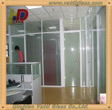 Frameless stylish interior glass doors designs partition and living room