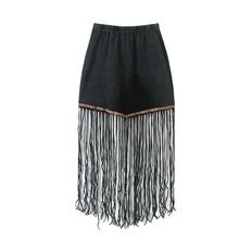 MS65949W fashion tassel new arrival women skirt long