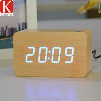 Hot sale led display wood george nelson clock