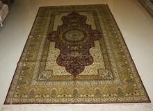 oriential Turkish knots handmade silk iranian carpets on sale