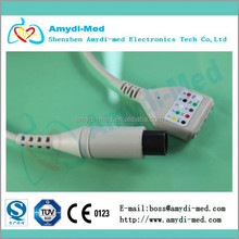 best hospital supplies TPU 6 pins 3 lead ecg trunk cable
