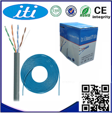 100% SOLID COPPER CAT5E CABLE 1000FT Box 350MHZ 24AWG CMR CAT5E UTP Network LAN