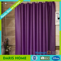 Dark purple plastic curtain, dark purple plastic shower curtain with printing, color changing shower curtain