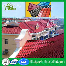 heat insulation pvc roof tile/alibaba china waterproofing roof shingle/corrugated roof panel