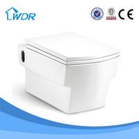 China square ceramic bathroom wall-hung toilet by google