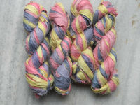 Recycled Soft Multi Colour Sari Silk Ribbon For Knitting & Craft Work