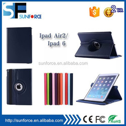 Wholesale factory multi function flip leather case for ipad 6/air 2