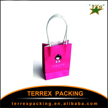 2015 newest popular paper shopping bag logo/packaging box