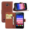Flip PU leather mobile phone cover case for huawei ascend y550