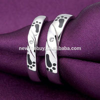 Romantic electroplating gifts for newly married couple korea silver 925 accept paypal gold ring 585