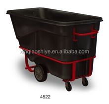 Plastic Heavy-duty Forkliftable Tilt Trucks cleaning trolley garbage cart
