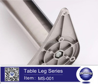 height adjustable table leg, removable table leg, table leg support