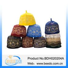 Fashional muslim headwear 100% wool felt muslim hat made in china