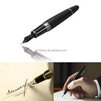 Jinhao 159 Black And Silver Golden M Nib Stationery Mont Fountain Pen Thick For Student Study Gifts Decorations Office Supplies
