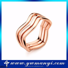 Many Different Designs Custom jewelry fashion Fine Jewelry wave of shape set ring