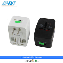 Multiple plugs adapter UK/US/AUS/EU Universal Travel Adapter with USB plugs have CE,FCC and ROHS certificates