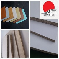 18mm hot sell melamine faced waterproof particleboard / chipboard