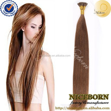 2015 wholesale top quality 100% Peruvian remy human hair extension i tip hair
