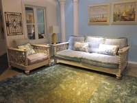 SF3007 - Unique design for your home solid wood painted sofas overstock