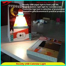 Novelty USB Calendar Light abstract home decoration pieces