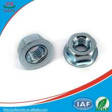 Good quality/conical washer nuts/white zinc nuts/M5/Hex nuts/