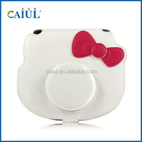 CAIUL cute white leather bag miniKT instant camera suitable for instax