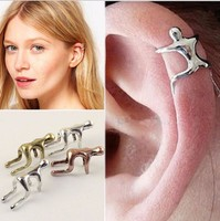 Fashion Jewelry punk Tiny human figure Earring Ear Cuff wrap clip earring no piercing no hole earring