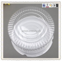 Clear round plastic birthday cake box for wholesale