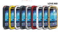 LOVE MEI Metal Aluminum Shockproof Dirtproof Waterproof Gorilla Glass Case Aluminum Metal Cover Case For Galaxy S4