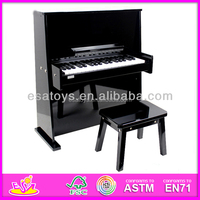2015 New wooden black piano,popular kids black piano and hot sale wooden black piano with cheapest price W07C017