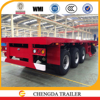 Tri-axle flat bed trailer in truck semi trailer from China Manufacturer