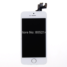 White Touch Screen Digitizer+LCD Display Digitizer Assembly+Home Button+Front Camera flex cable For iPhone 5s IPH620