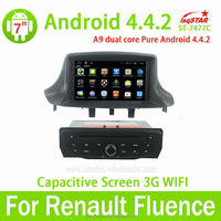 Capacitive Multi touch screen Android 4.4 Renault Megane III/ Renault Fluence Car DVD Player with GPS Navigation