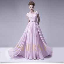 Cheap wholesale purple color A-line backless evening dress made in China
