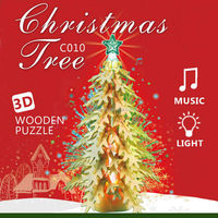 2015 new Christmas Decoration 3D wooden puzzle xmas tree