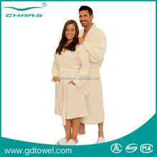 Customized Top Quality Hotel Spa Using 100% Cotton velour Bathrobe