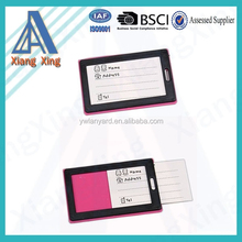 2015 newly product lovely colorful soft pvc id card luggage tag for traveling