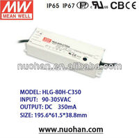 Meanwell 90w led driver constant current pwm dimmable led driver 350ma