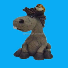 novelty gift small Resin horse with bird
