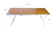 2015 outdoor aluminum portable compact folding camping table with carry bag