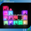 pantalla cubo caso con luz led