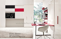 Hot sale contemporary wall beds innovational twin full queen king size with bookcase vanrom furniture