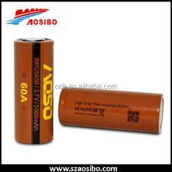 Recharge liion battery aosibo imr18650 3.7v rechargeable battery--aosibo imr18650 lithium ion battery brown imr18650 aa quality