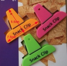Fashion Colorful Food Grade Plastic Spring Clips