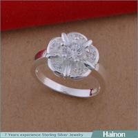 2015 lady jewelry wholesale factory diamond flower ring